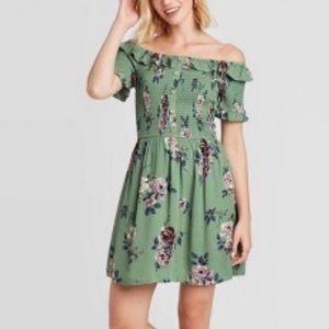 New Xhilaration Off Shoulder Floral Dress